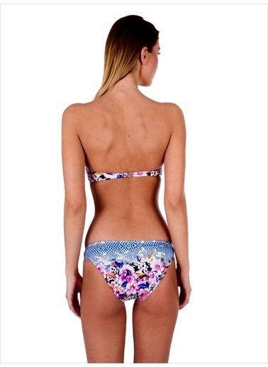 Ayyıldız Straplez Bikini Renkli